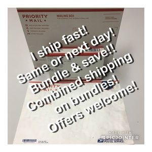 Fast shipping! Combined shipping on bundles!